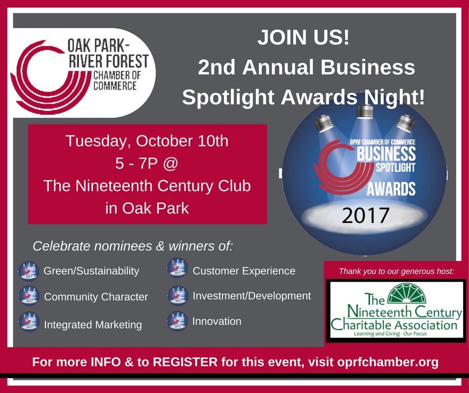 2017 Spotlight Awards Night Event Info