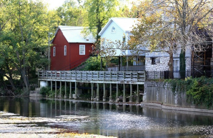 This is a view of Merchants Row in historic Perryville from the Chaplin River.  The City of Perryville and Main Street Perryville are Partners in the Danville-Boyle County Economic Development Partnership, Inc.