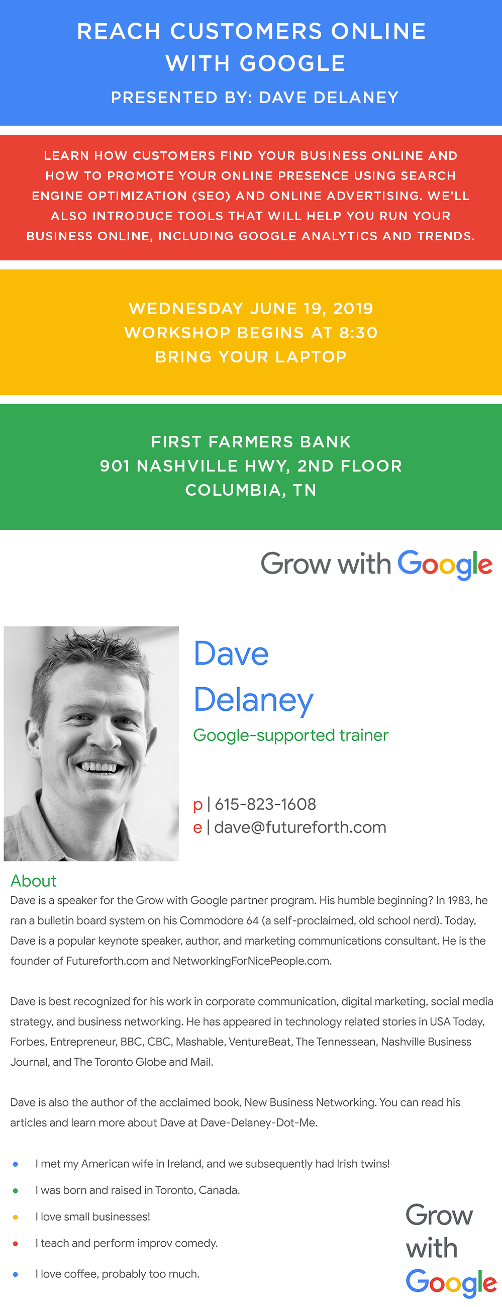 Reach Customers Online with Google - Jun 19, 2019 - Maury Alliance