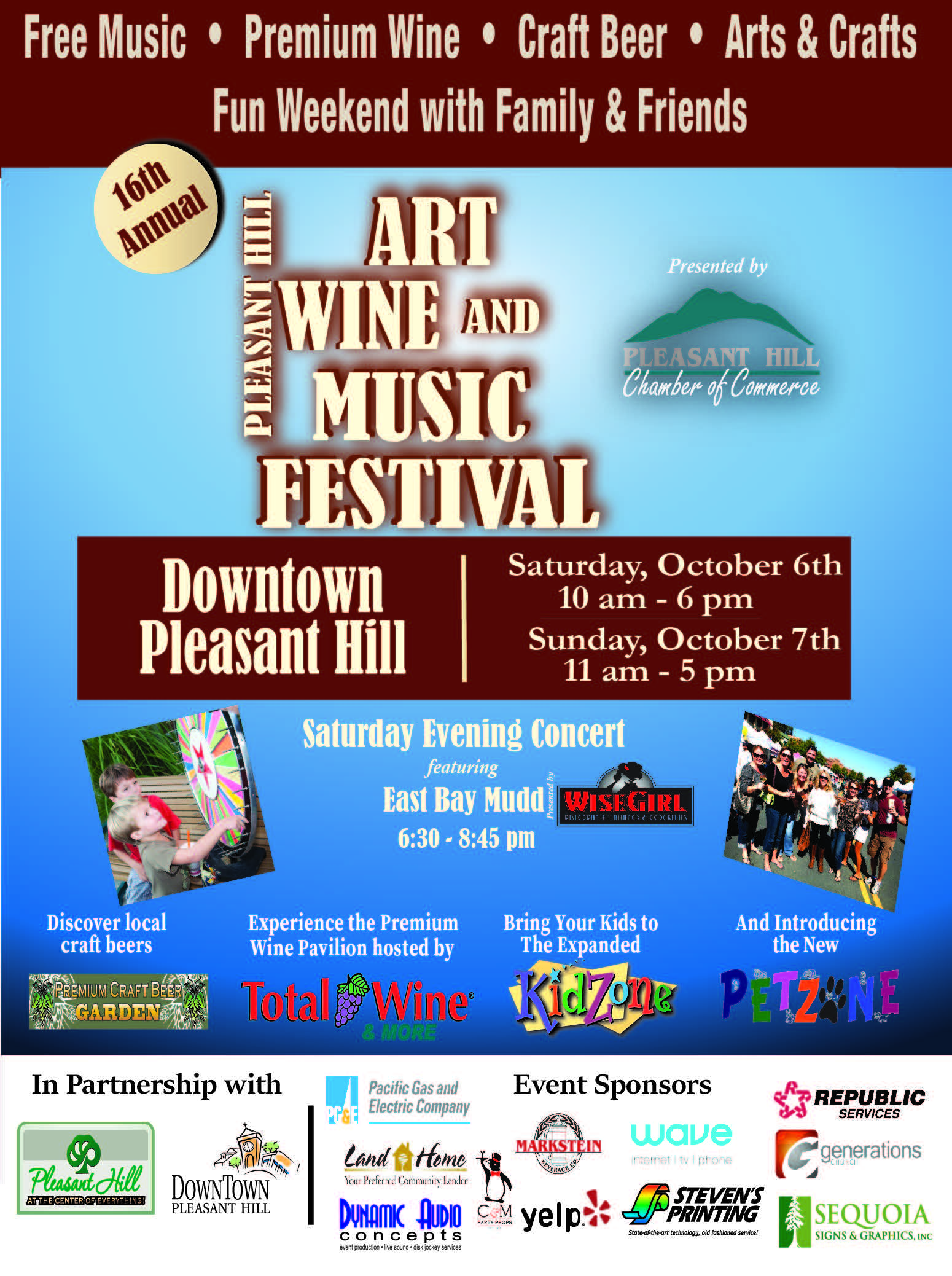 16th Annual Pleasant Hill Art Wine And Music Festival