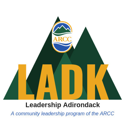Leadership Adirondack (LADK) Logo - A community leadership program of the ARCC