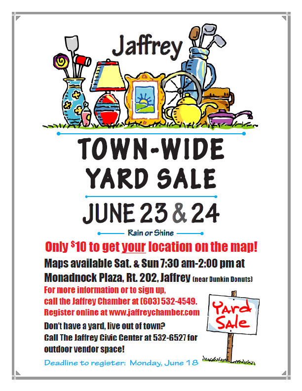 Jaffrey Town-wide Yard Sale