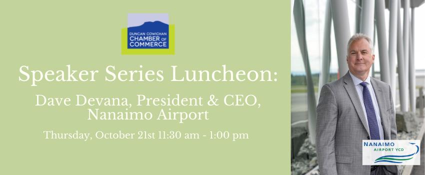 Duncan Cowichan Chamber of Commerce Luncheon Oct 21st