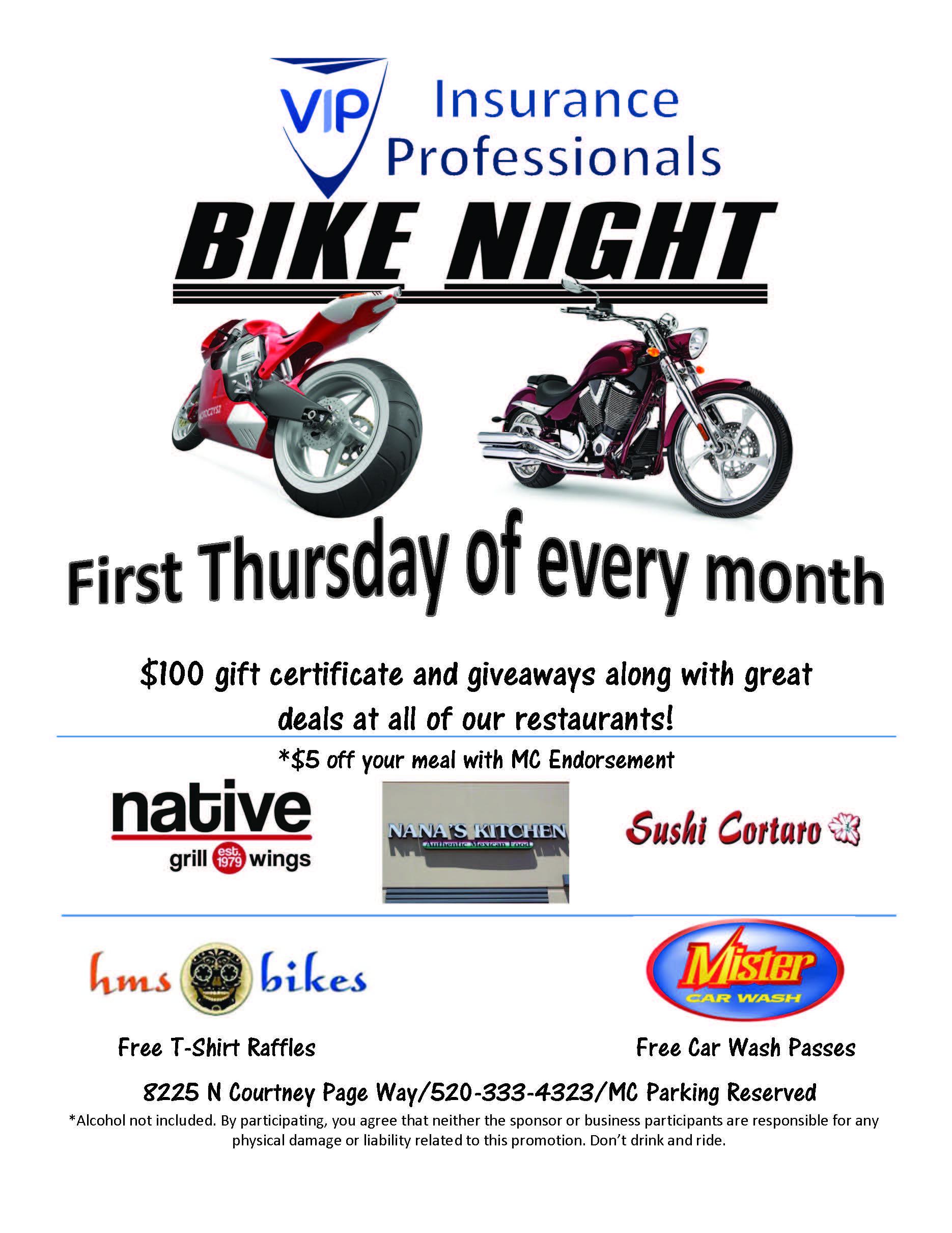 VIP Insurance Professionals Bike Night - Aug 2, 2018 - Marana ...