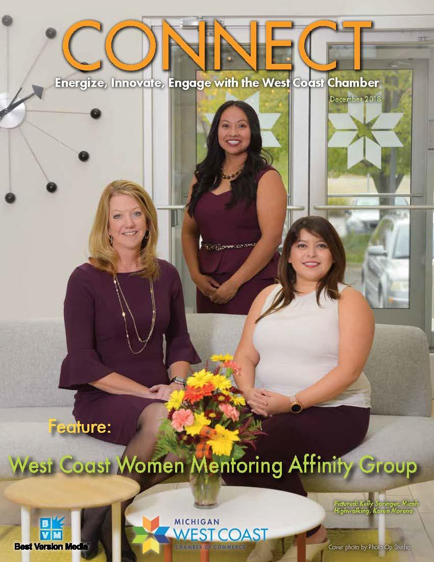 Kelly Springer, Micah Highwalking, and Karen Moreno, West Coast Chamber Women's Mentoring Group