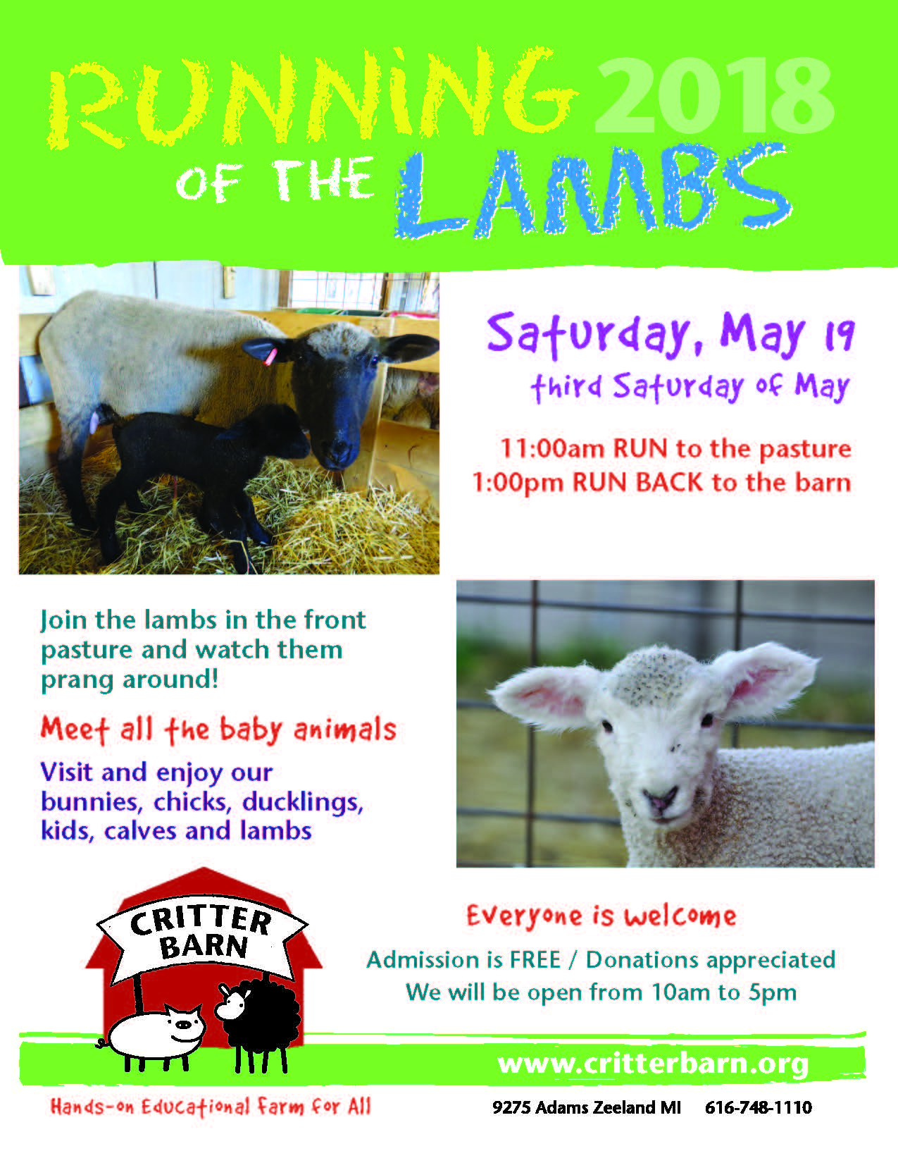 Running of the Lambs - Michigan West Coast Chamber of