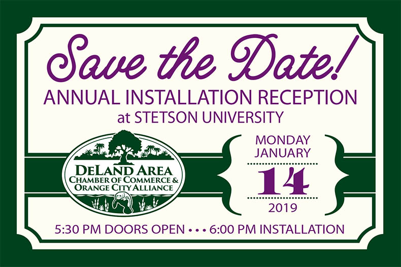 DeLand Area Chamber of Commerce and Orange City Alliance annual installation reception
