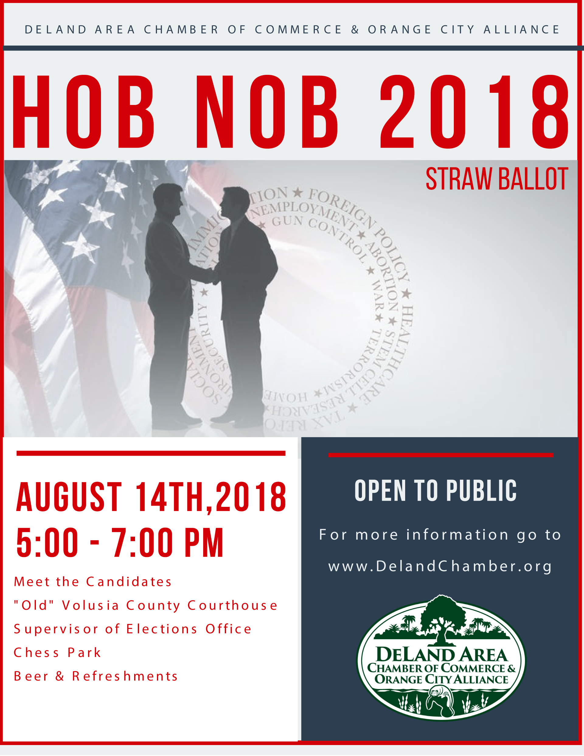 DeLand Area Chamber of Commmerce 2018 Political Hob Nob