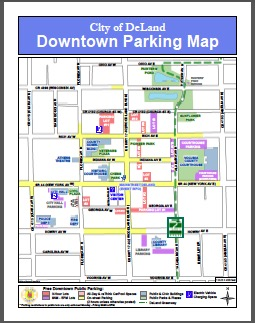 Downtown DeLand Parking Map