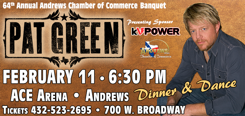 Pat Green in Concert at Andrews Chamber of Commerce Banquet