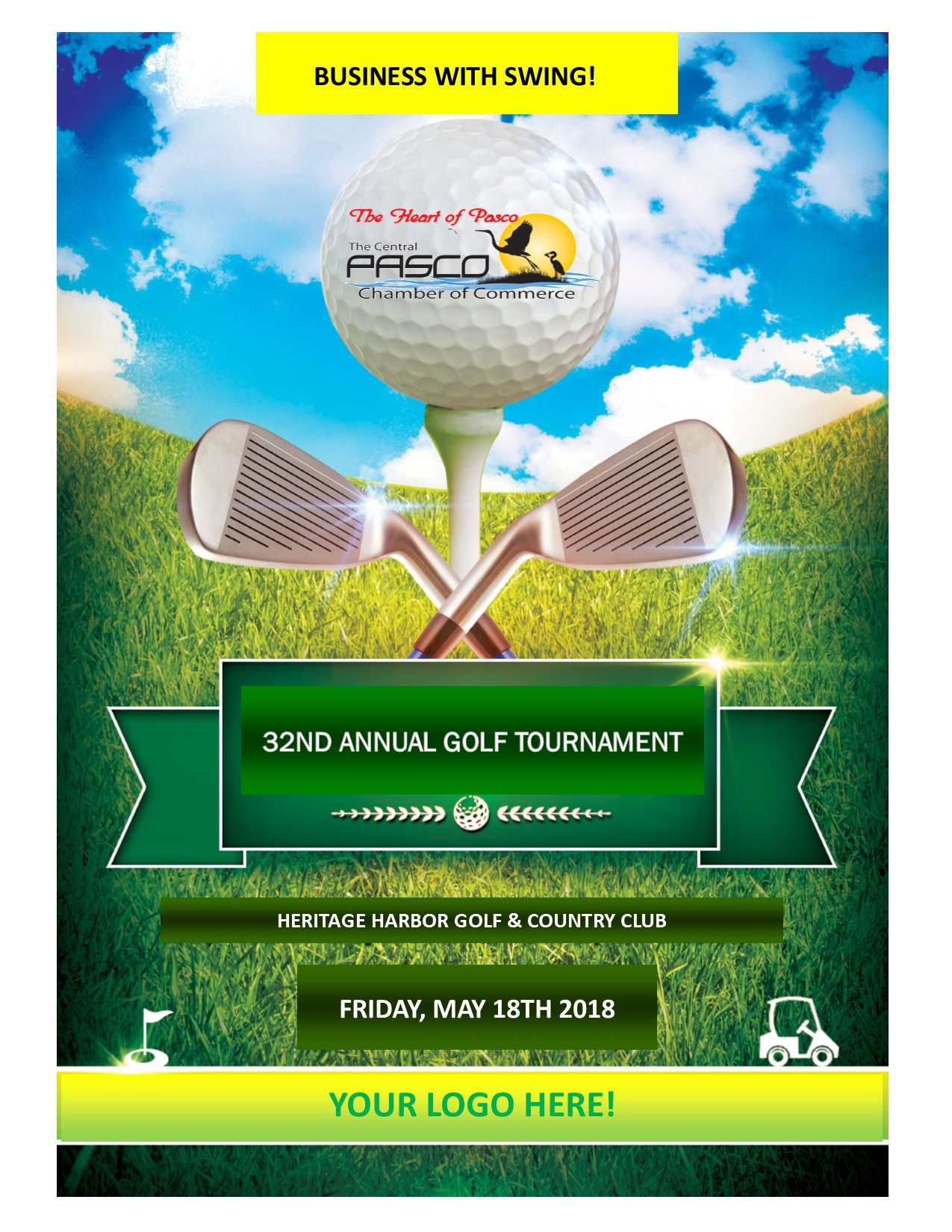 Golf Tournament Pasco Lutz Land O' Lakes Wesley Chapel networking business