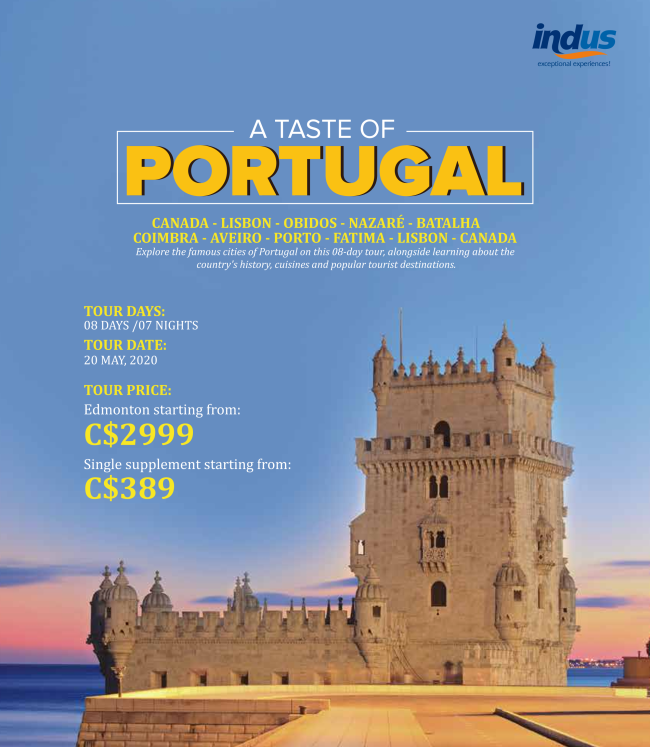 https://www.indus.travel/tour/a-taste-of-portugal-with-fort-saskatchewan-and-district-chamber-of-commerce
