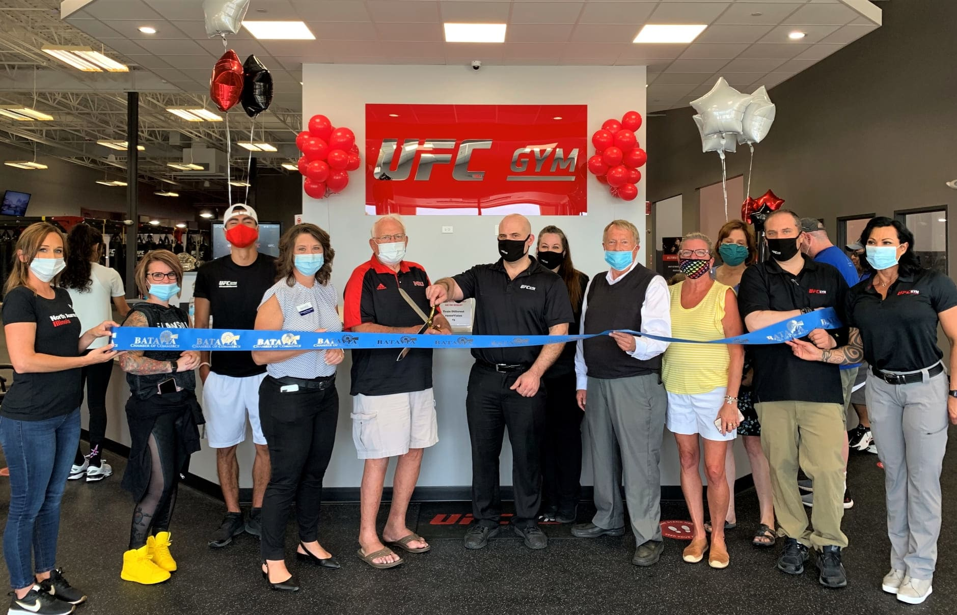 Masked Ribbon Cutting