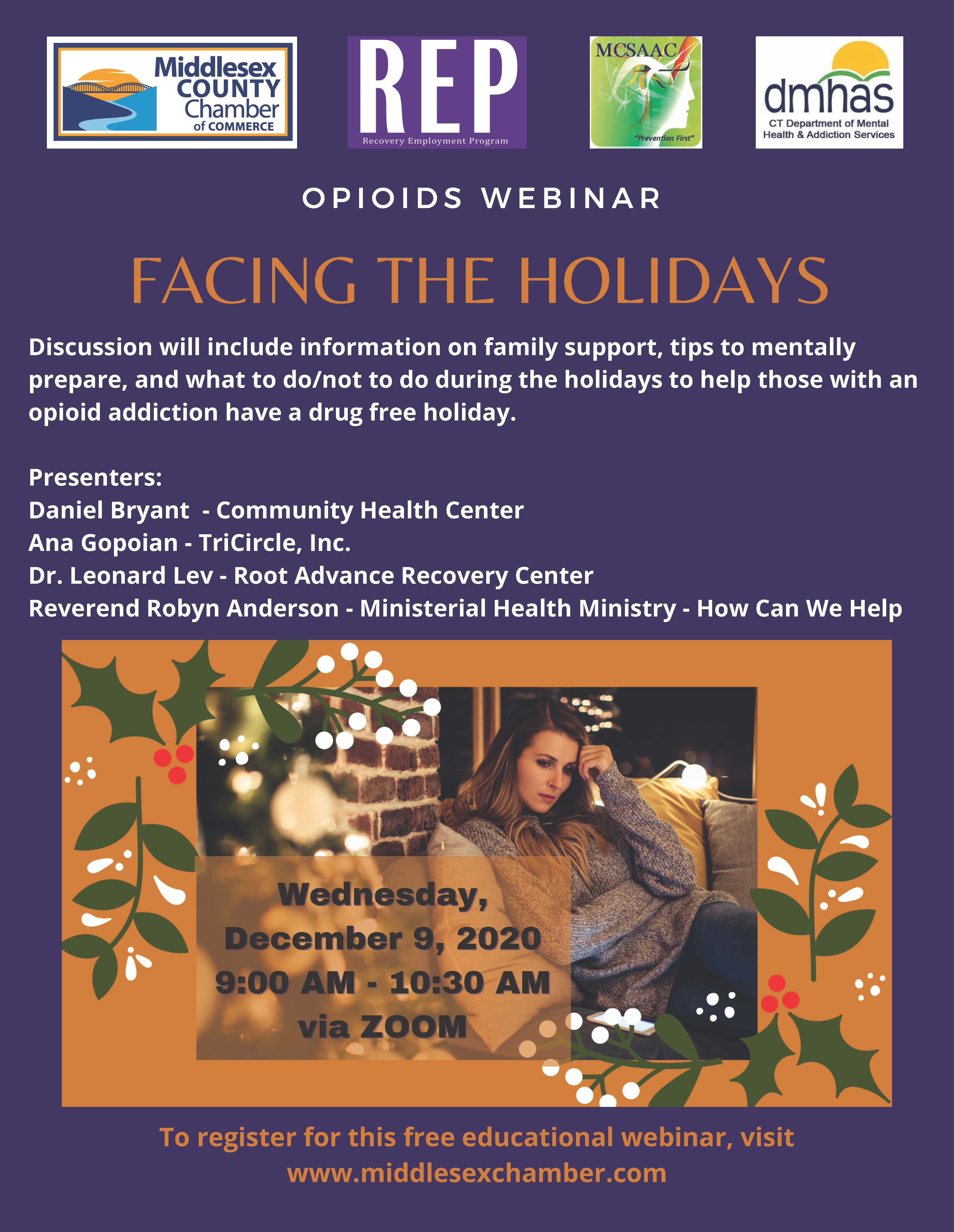 Facing the Holidays flyer
