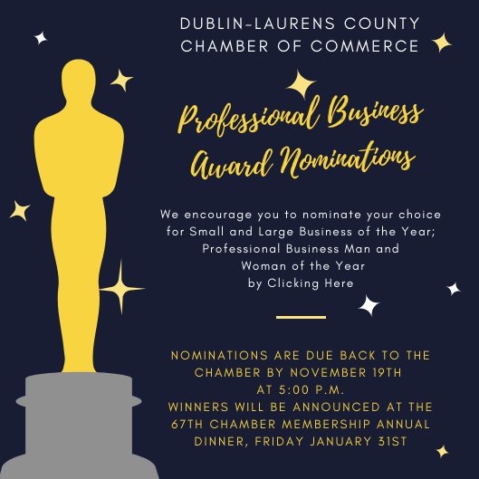 Professional Business Award Nominations for 2019