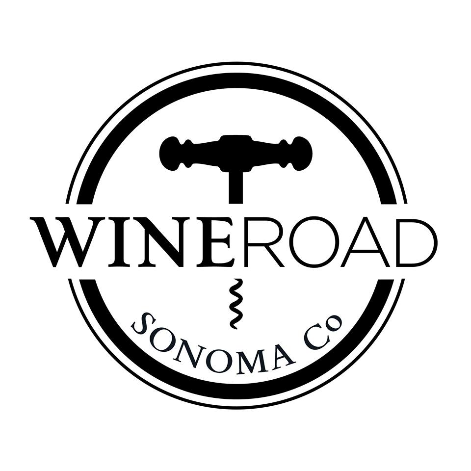 wine cork in circle. wine road. sonoma co
