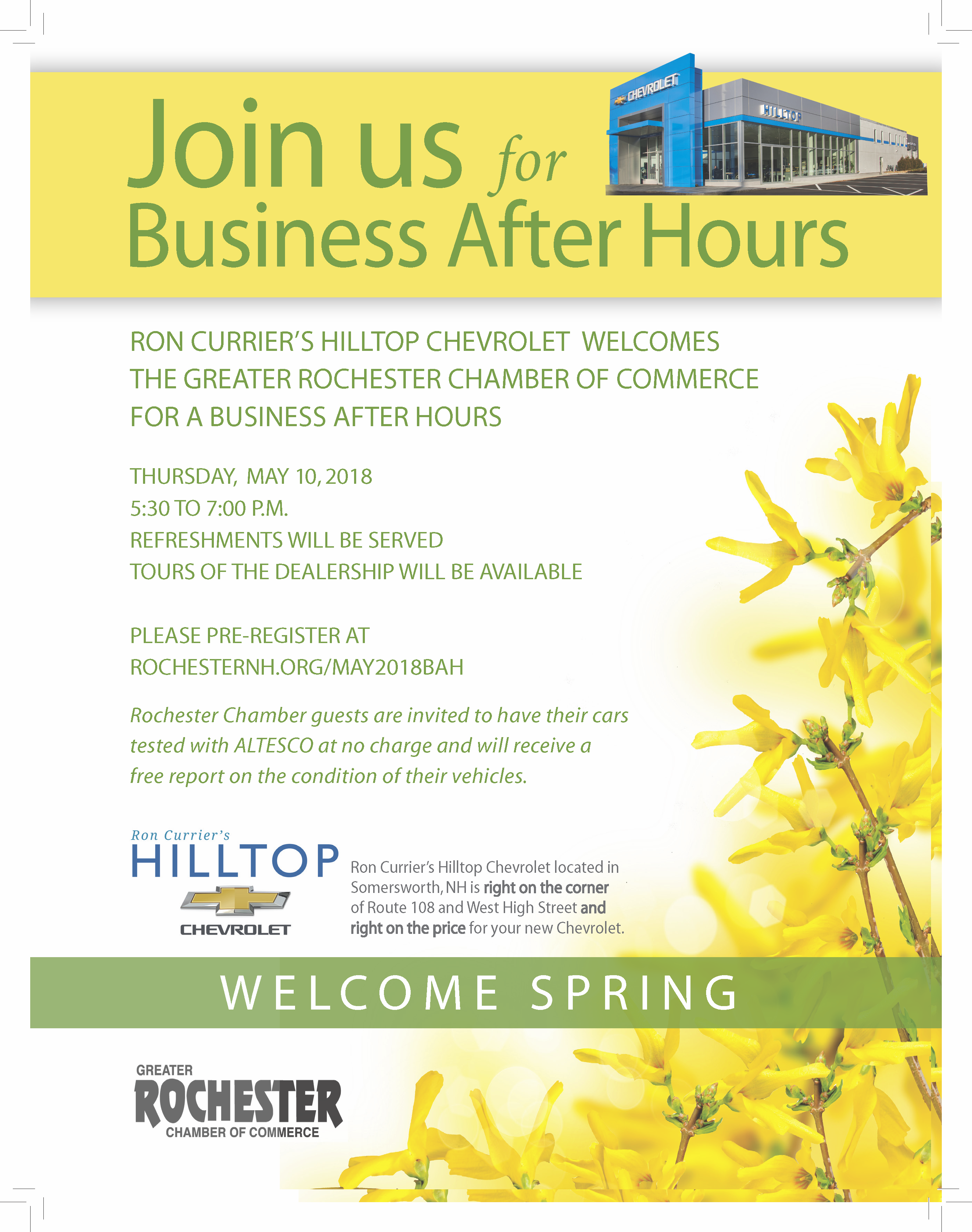 Business After Hours at Hilltop Chevy - May 10, 2018 - Greater ...