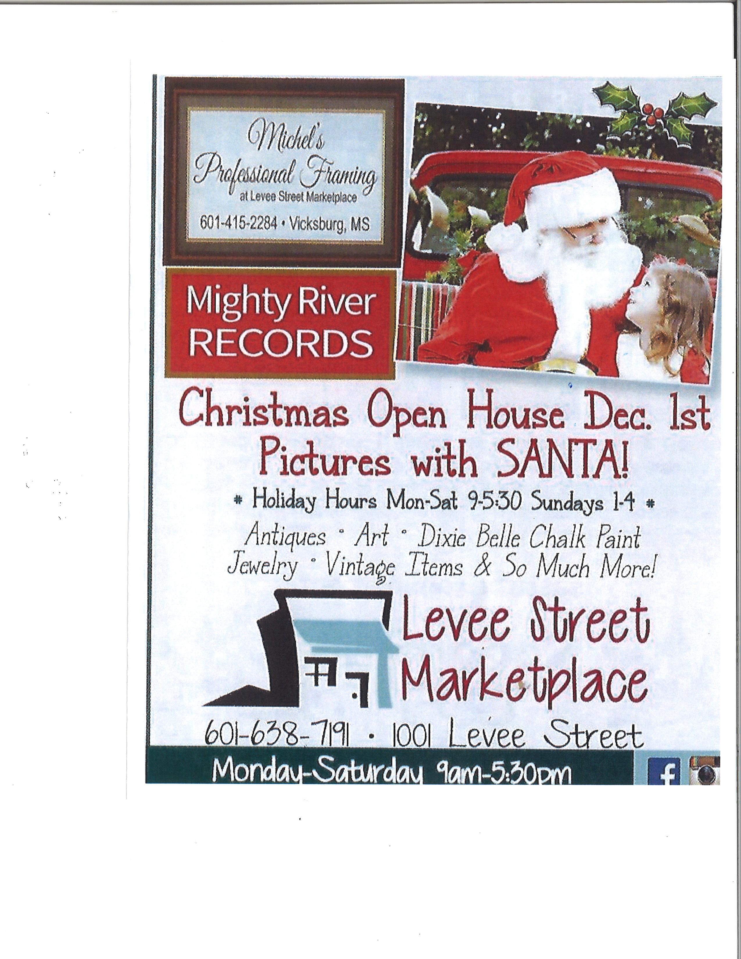 Levee Street Marketplace Christmas Open House - Dec 1, 2018 ...