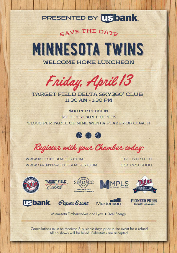 Minnesota Twins Welcome Home Luncheon