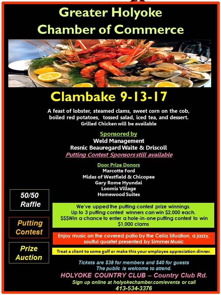 http://www.holyokechamber.com/events/details/annual-clambake-2017-save-the-date-2555