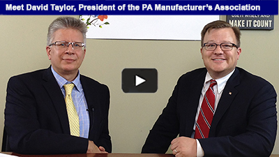 The Chamber is celebrating PA Manufacturing Week during October's National Manufacturing Month! The Chamber's own Mark Dolinski sat down with David Taylor, PA Manufacturer's Association, to discuss the impact of manufacturing in PA!