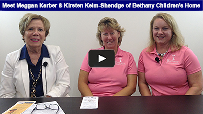 Karen Marsdale sits down with Meggan Kerber and Kirsten Keim-Shendge of Bethany Children's Home< to learn about their work, their events, and their dedication to the organization! Learn more about Bethany Childrens Home here.