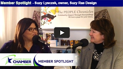 Suzy Lysczek, owner, Suzy Rae Design, celebrates ten years of being in business this year!