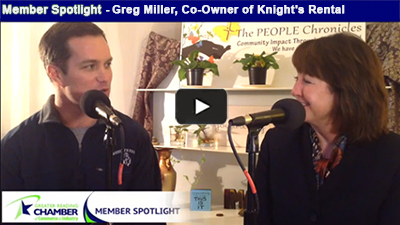 Enjoy a few memorable moments with Greg Miller, Co-Owner of Knight's Rental, and get some planning ideas for your next big bash!