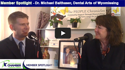 Hear from Dental Arts of Wyomissing Berks native, Dr. Michael Balthaser, a 2014 Top 40 Under 40 Dentist in the USA!.