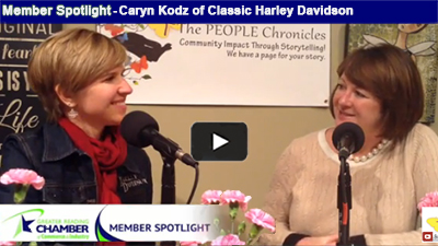 Caryn Kodz of Classic Harley Davidson talks about how much fun it is to work in her family