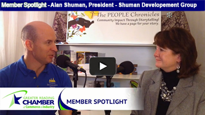Alan Shuman, President of Shuman Development Group, takes five with Ellen Horan to discuss commercial real estate development projects focused on revitalizing downtown Reading.
