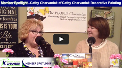 Cathy Chervanick provides her clients with the color and creativity needed to make every project 'pop!'.