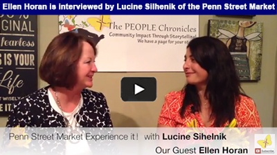 TABLES ARE TURNED THIS WEEK! Ellen Horan is interviewed by Lucine Silhenik of the Penn Street Market.