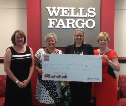 Wells Fargo presents check to Women2Women