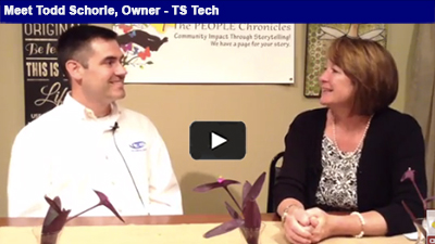 For Todd Schorle, owner TS Tech, having his 'head in the cloud' is a part of everyday business!