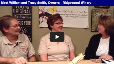 How does a hobby turn into a full blown business? Listen to William and Tracy Smith talk about Ridgewood Winery.