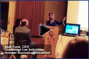 Andi Funk, CEO, Cambridge Lee Industries at Chamber
