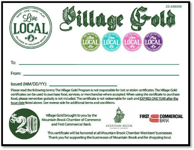 Village Gold Gift Certificate