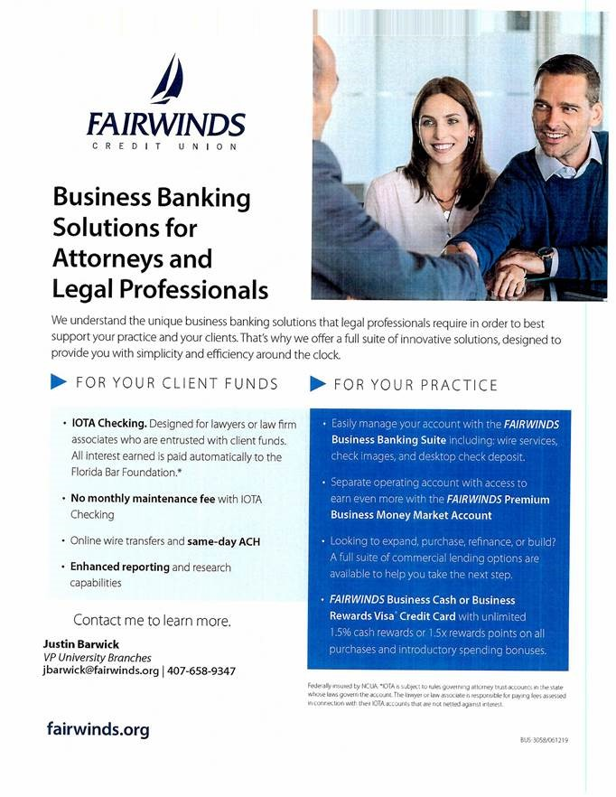 Fairwinds Customer Service >> News Release Fairwinds Solutions For Attorneys Legal