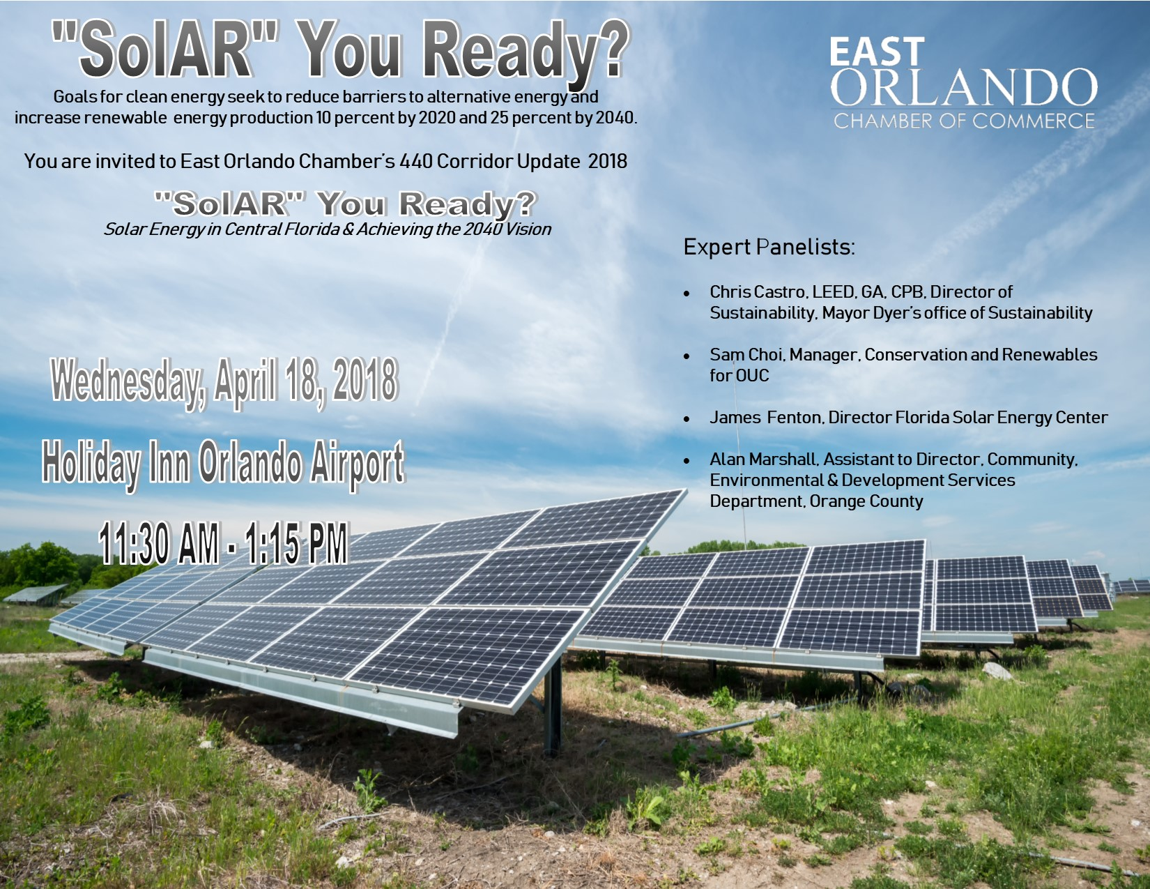 a description of the presentation on solar energy