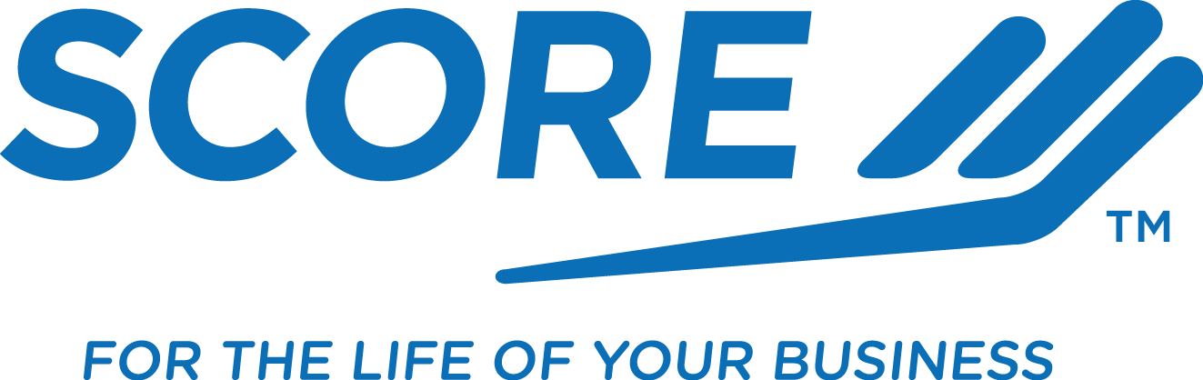 "SCORE Logo ""For the life of your business"""