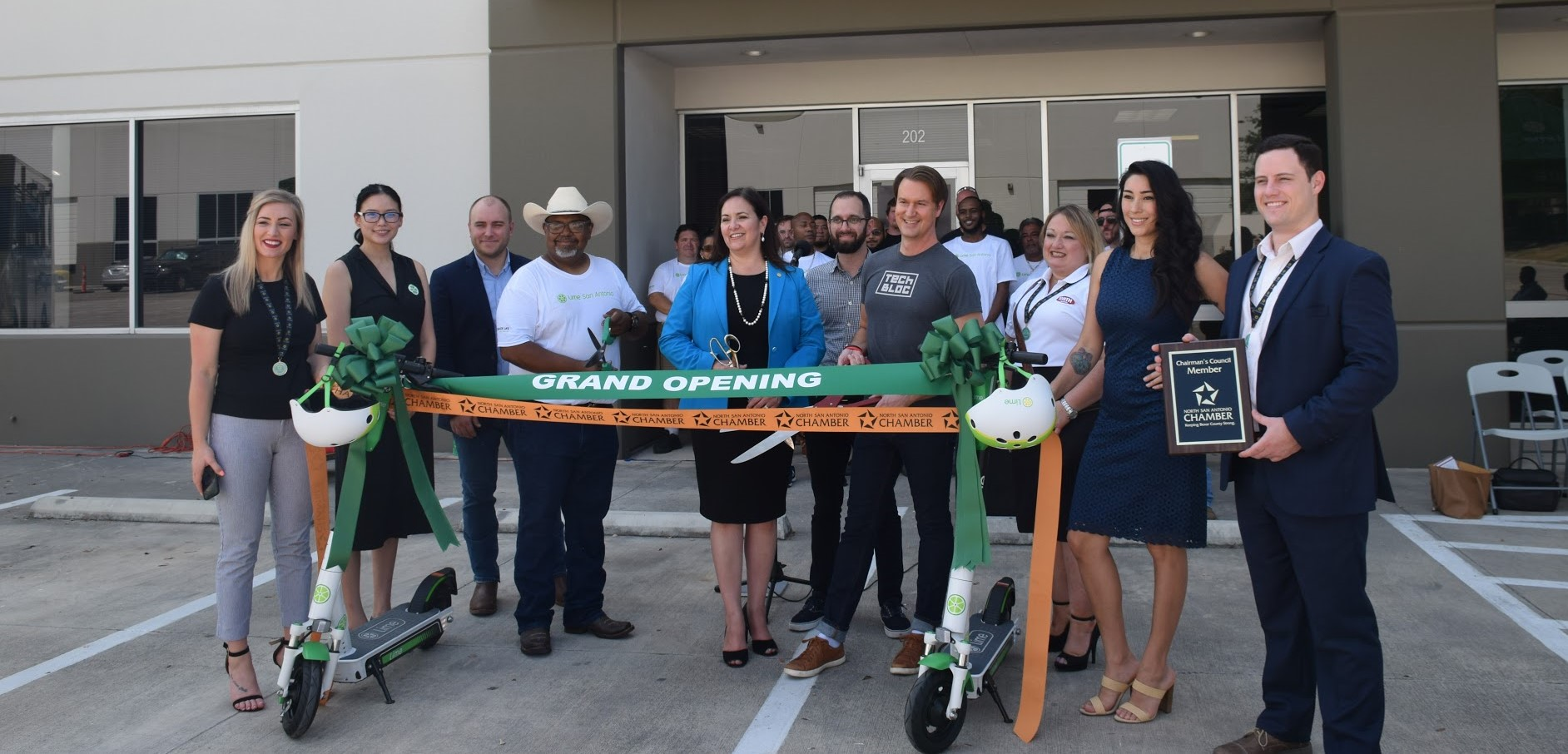 Lime Ribbon Cutting