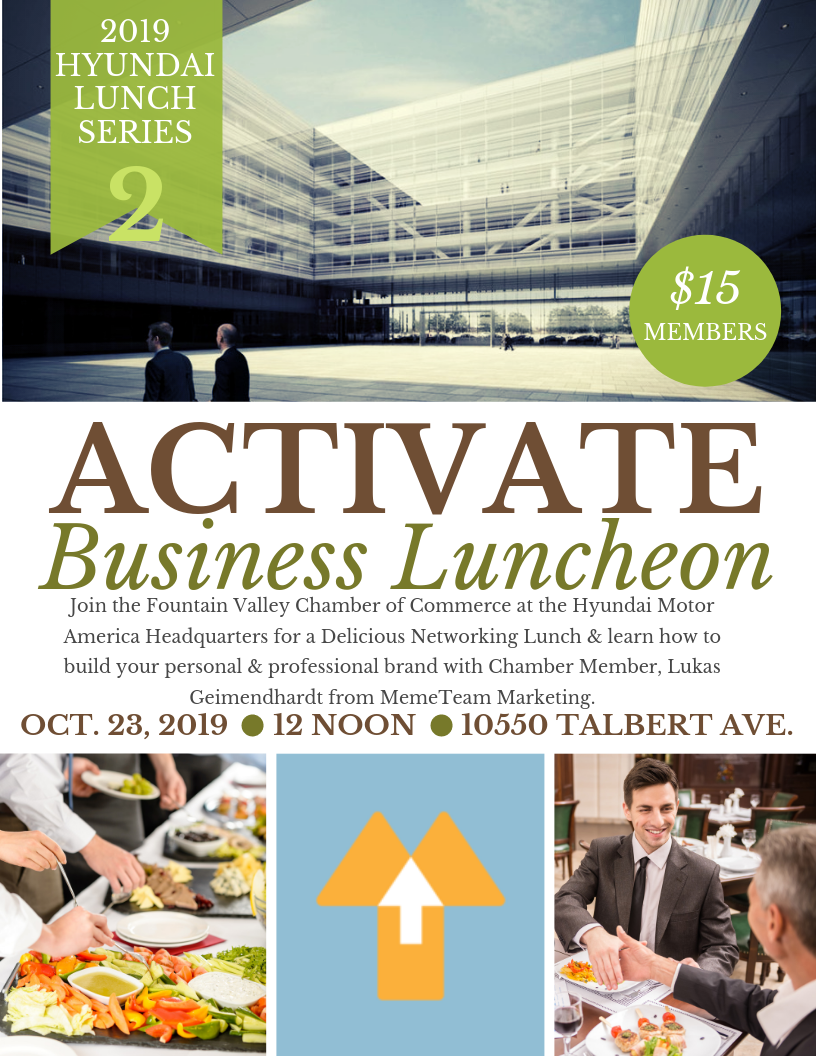Hyundai Lunch Series: Activate Business Luncheon