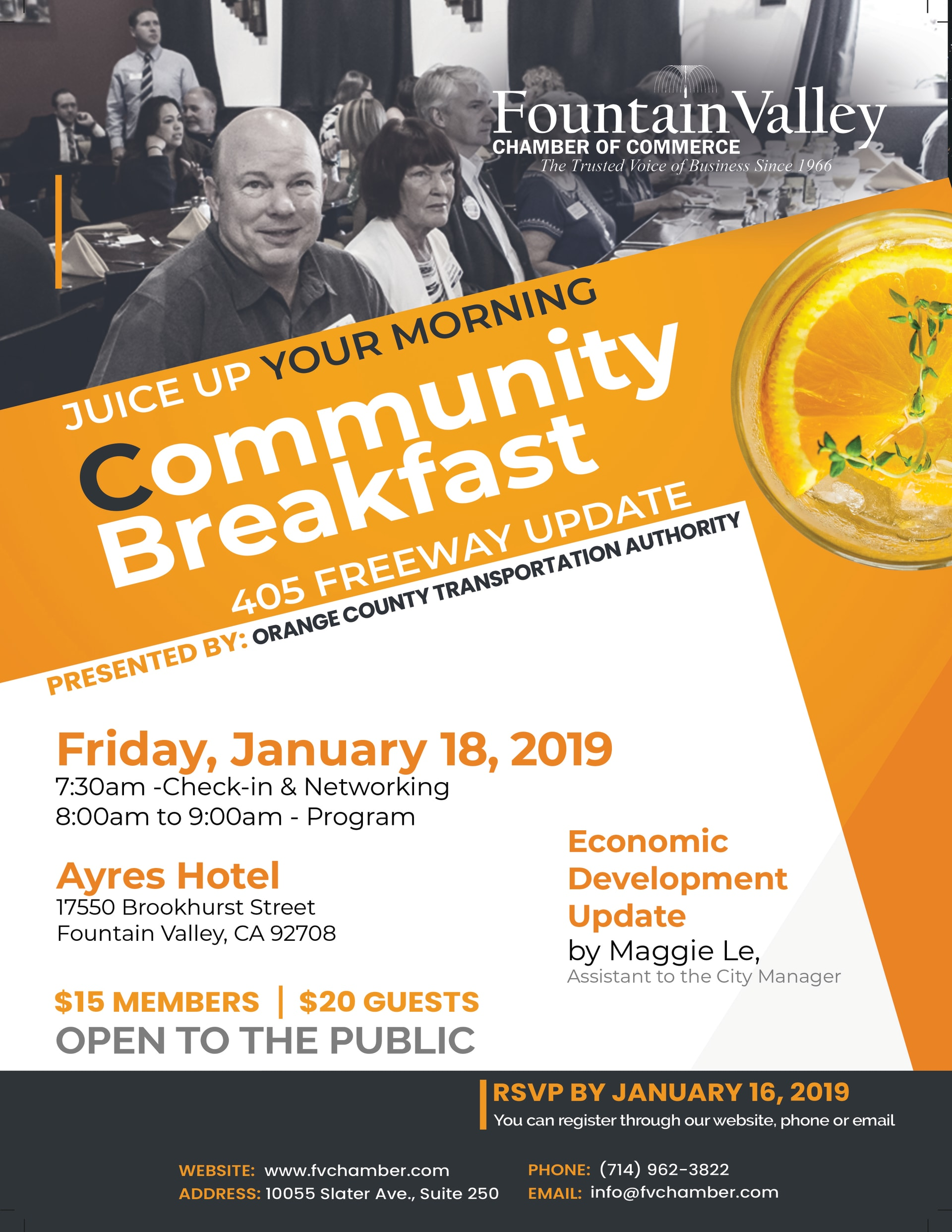Juice up your morning Community Breakfast Fountain Valley