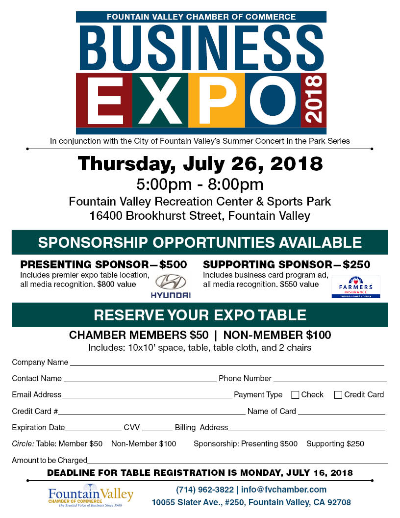 Fountain Valley Chamber's Business EXPO