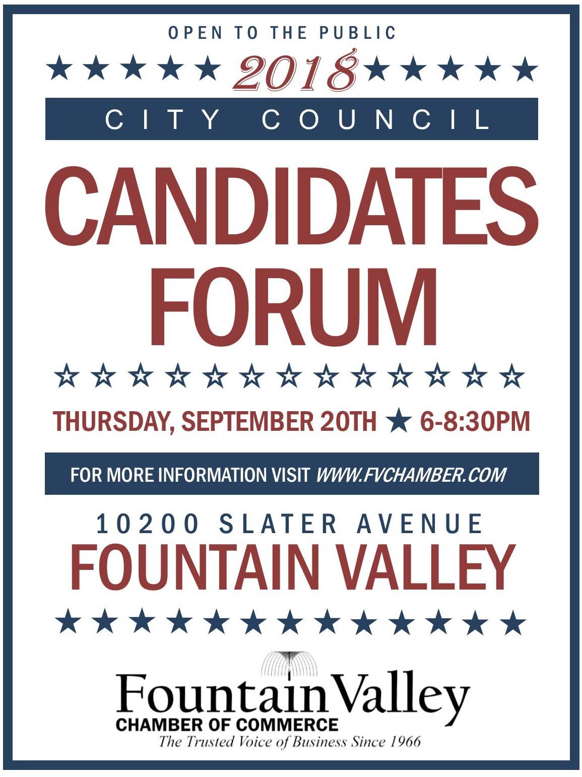 Candidates Forum Fountain Valley