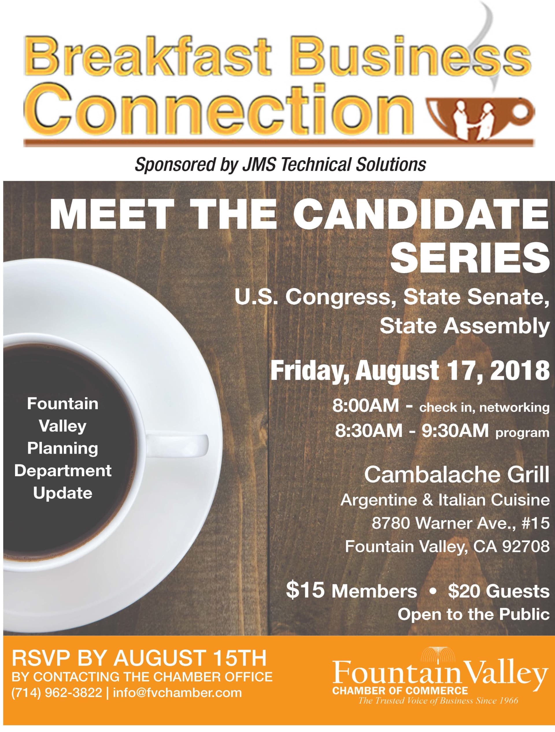 Fountain Valley Chamber Breakfast Business Connection