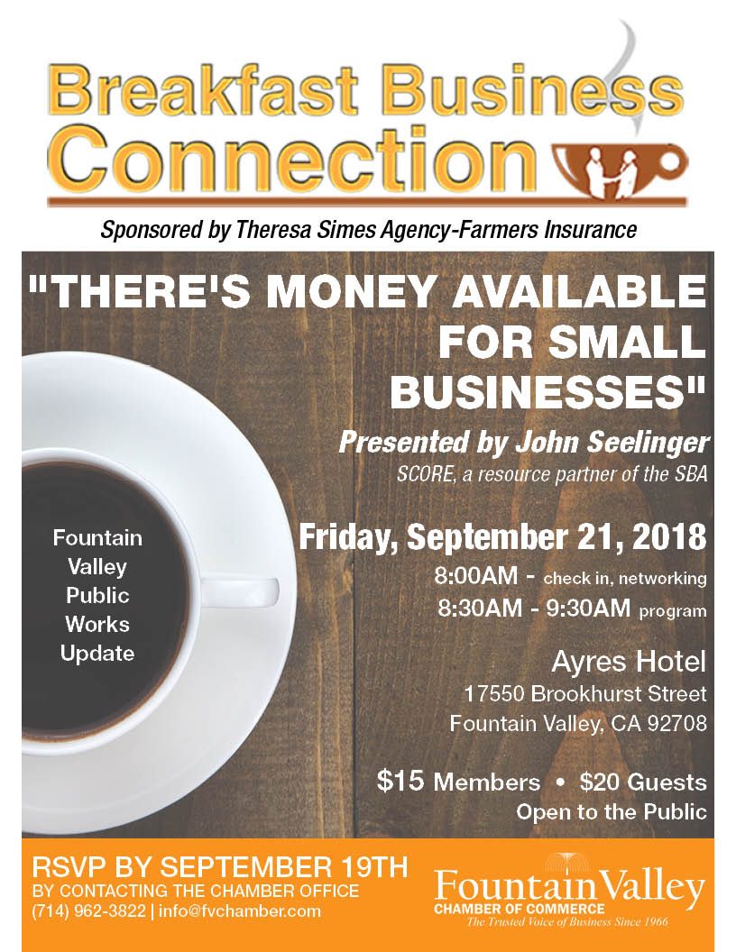 FV Chamber breakfast business connection