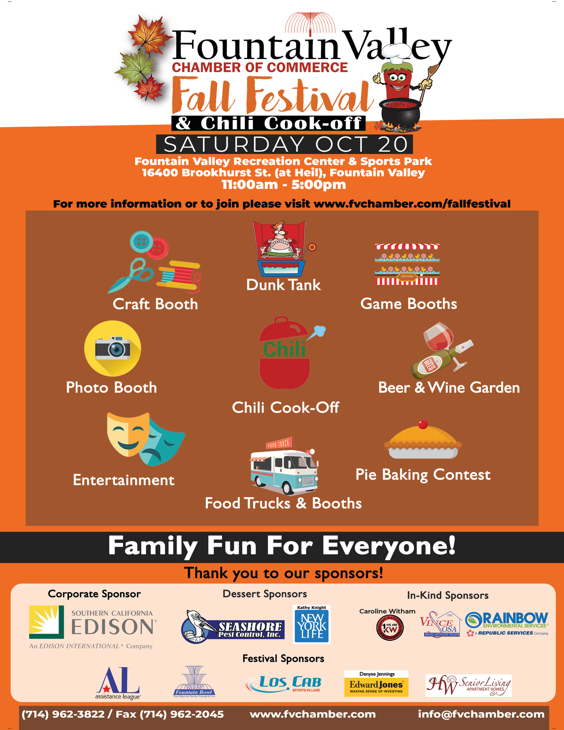 Fall Festival and Chili Cook-off