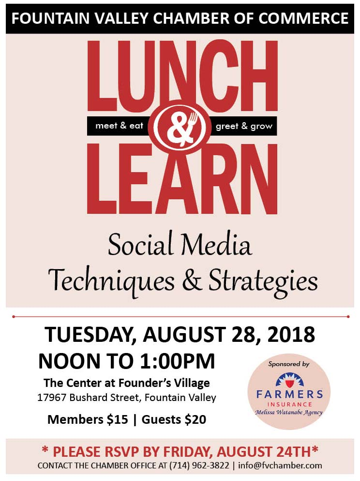 Fountain Valley Chamber Lunch and Learn